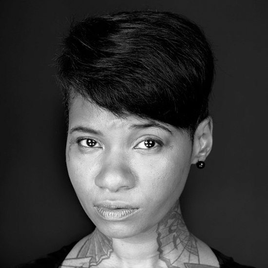 Jean Grae Close Up In Black And White