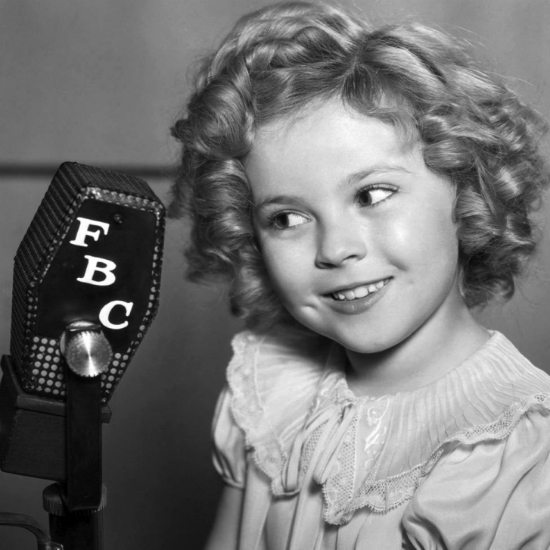 shirley-temple-microphone-bw