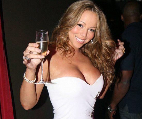 Mariah Carey White dress Toast
