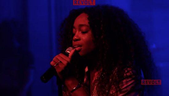 SZA Performing At Red Bull Studios