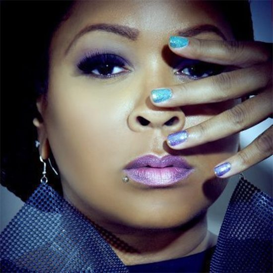 Monifah With Hand On Her Face