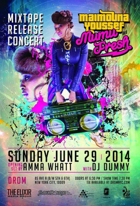 flyer-maimouna-youssef-mixtape-release-concert-drom