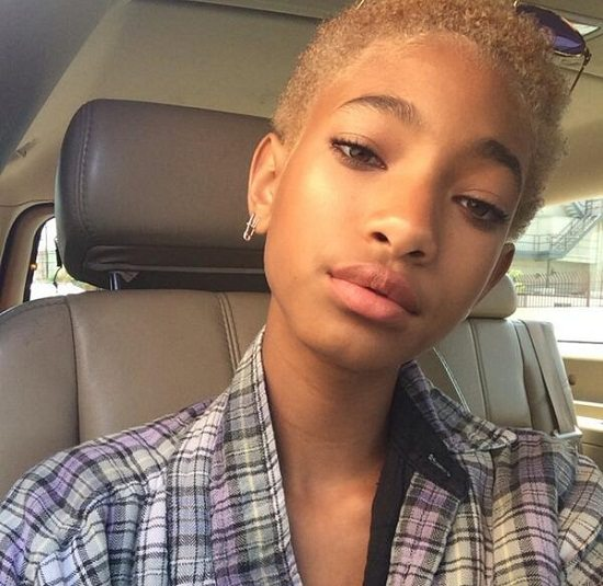 Willow Smith Blonde Flannel