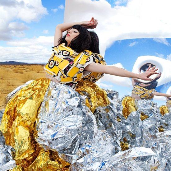 kimbra-gold-dress