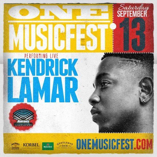ONE Music Fest Kendrick Lamar Flyer