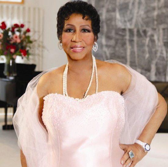 Aretha Franklin Pale Pink Shawl