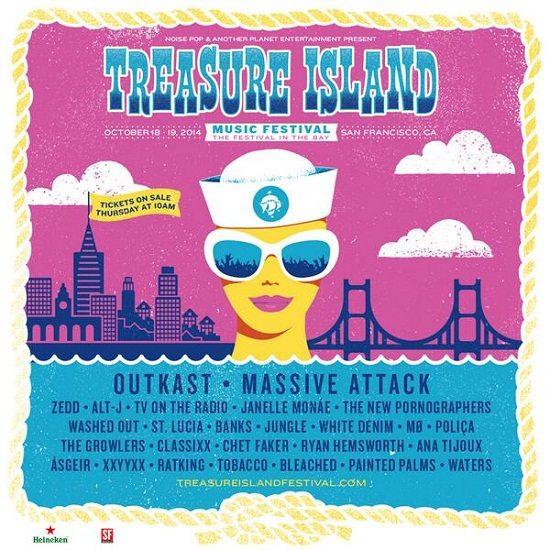 Treasure Island Festival Flyer