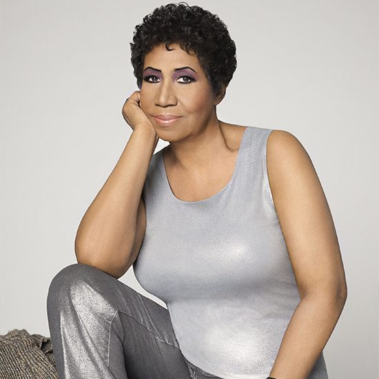 Aretha Franklin Sitting With Arm Up