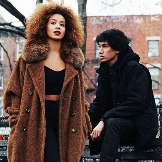 Lion Babe in Brown Jacket and Black Jacket