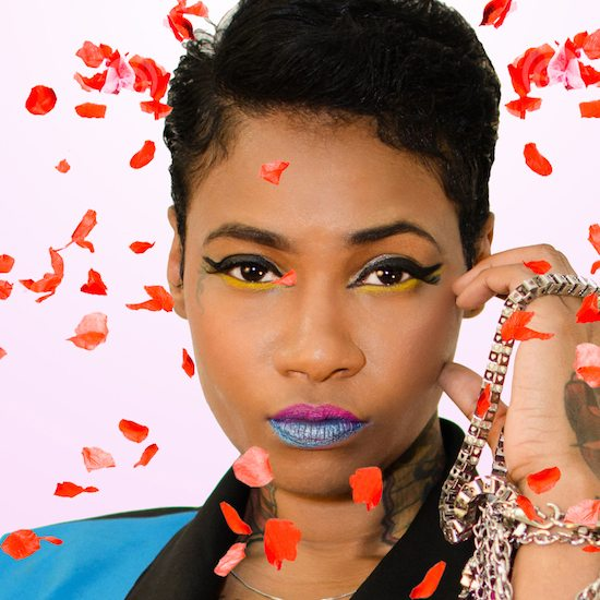 Jean Grae With Flowers Falling