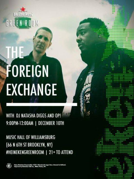 flyer-the-foreign-exchange-heineken-green-room
