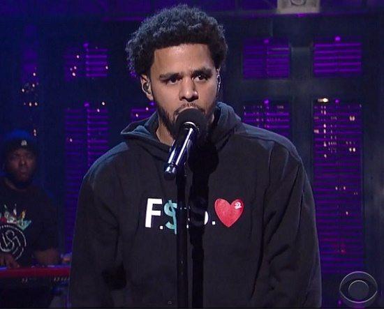 J Cole Be Free David Letterman