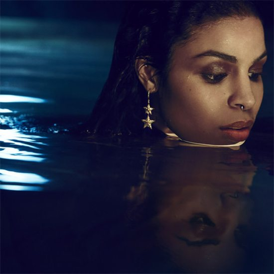 Jordin Sparks In Water With Gold Jewelry