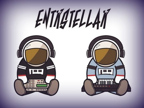 Entrstellar Astronauts Logo By Melissa Cook With Vignette Border