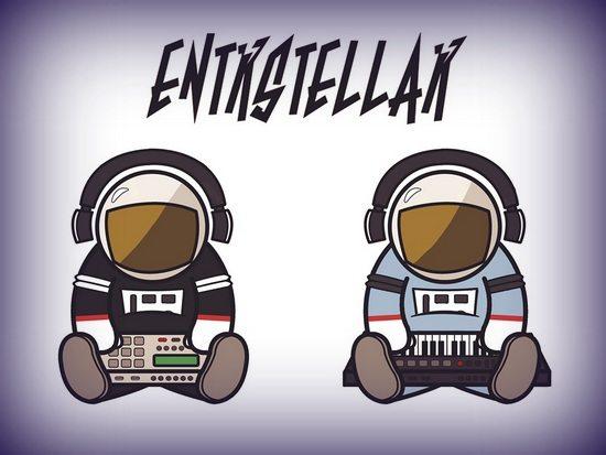 Entrstellar Astronauts Logo By Melissa Cook With Vignette Border