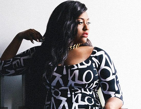 Jazmine Sullivan Black White Dress