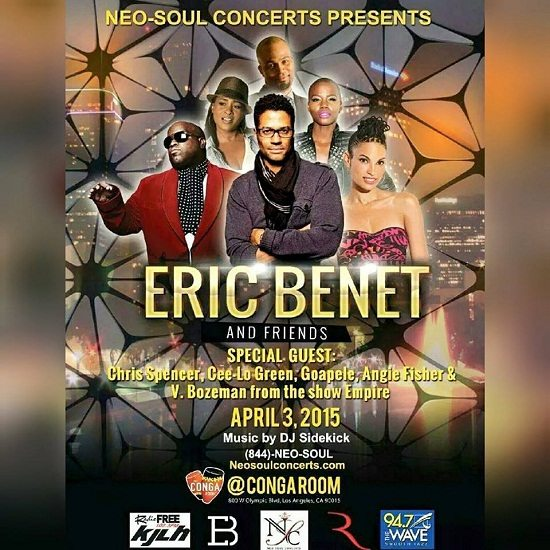 Eric Benet and Friends April 3