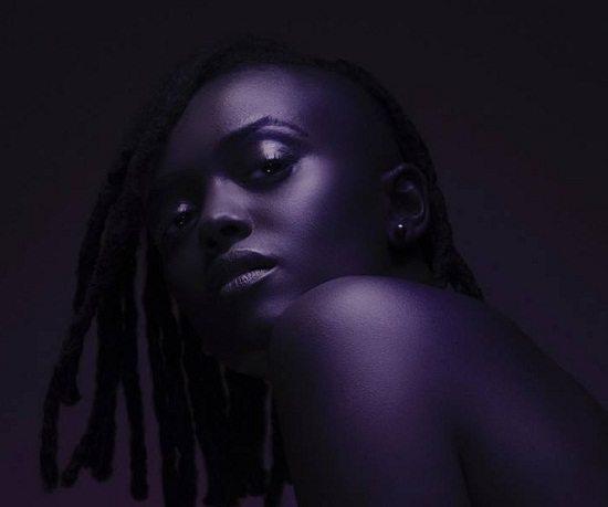 Kelela-Purple-Shaved-Head
