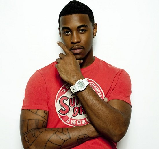 Jeremih-Red-SuperDry-Shirt