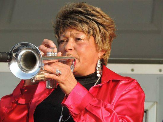 cynthia-robinson-red-satin-blouse-trumpet