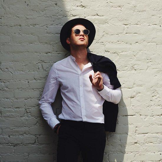 Mayer-Hawthorne-White-Shirt-Black-Hat