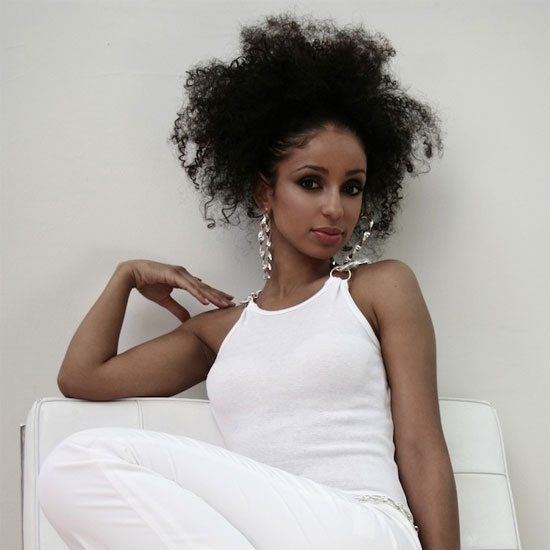 mya-curly-black-hair-white-outfit