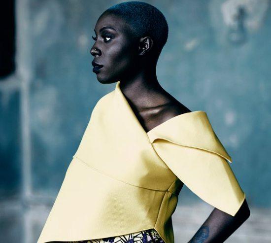 Laura-Mvula-Yellow-Top-Blue-Hair