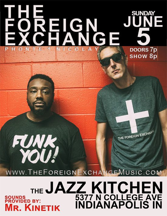 Flyer The Foreign Exchange Land Milk Honey Tour