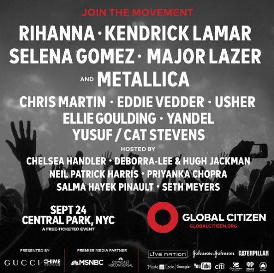 Global Citizen Festival 2016
