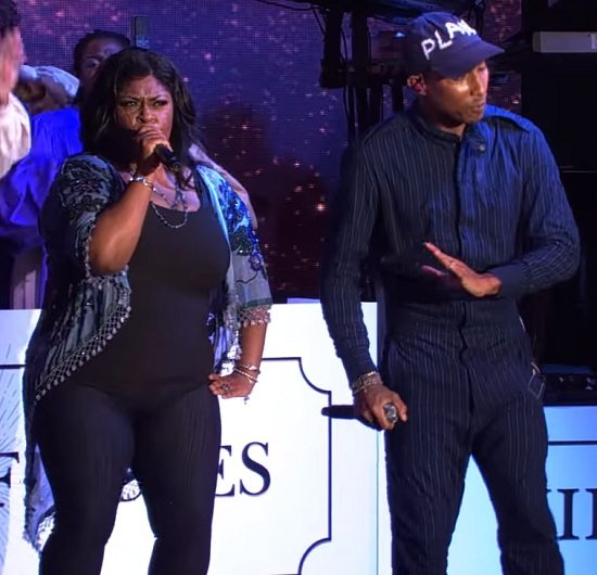 pharrell-williams-kim-burrell-blue-pinstripe