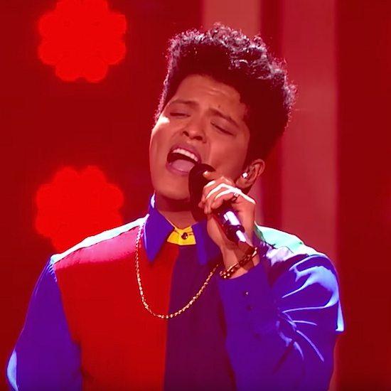 Bruno Mars Brit Awards 2017