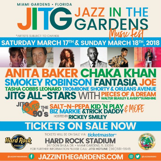 Attractive The 13th Annual Jazz In The Gardens Music Fest Is Rapidly Approaching On  Saturday, March 17th And Sunday, March 18th, And We Are Ready For The Early  ...