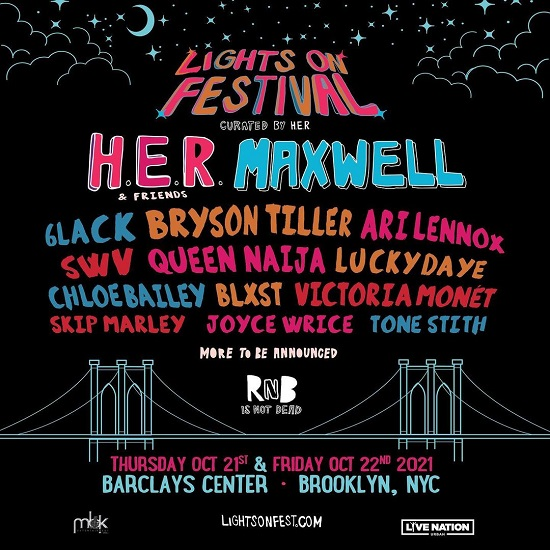 H.E.R. Is Bringing Her Lights On Festival To Brooklyn This October