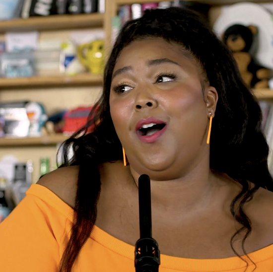 Lizzo Juice: Lizzo Squeezes Her 'Juice' All Over NPR Music's 'Tiny Desk
